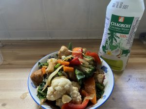 Pad Khing and Coconut water